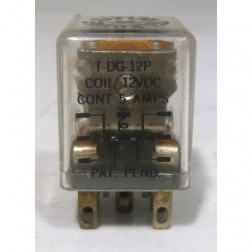 T-DC-12P Relay, dpdt, term