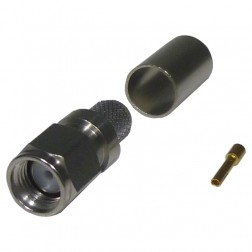 TC240SMRP SMA Reverse Polarity Male Crimp Connector, LMR240, Cable Group: X. Times