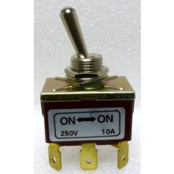 TS1  Toggle Switch, DPDT, 10a 250v, ON - ON
