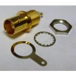 UG1094A/U-G  BNC Female Bulkhead Connector, Gold Plated