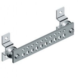"UGBKIT-0210-T  Ground buss bar, 2x10 hole, 1/4""x 2""x 10"" w/hardware"