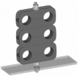 "WSDCB12  Mini Cable Block for 1/2"" Cable. Supports 2 cable runs.  Wireless Solutions"