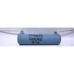 Z14 RF Choke,  44 uh 680 ma, Ohmite Choke