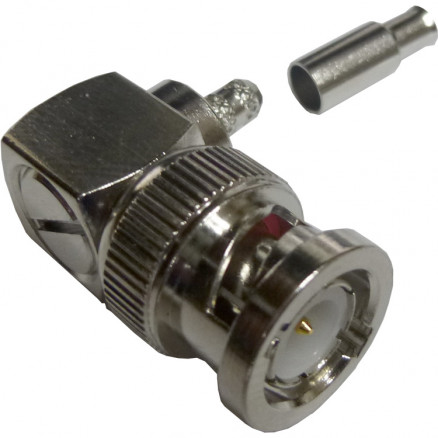 112178  BNC Male Crimp Connector, Right Angle, Cable Group B, Amphenol