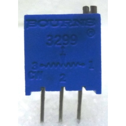 "3299W-10K  3/8"" Square Trimpot Trimming Potentiometer, 10000 ohm, 0.5 watt, Bourns"