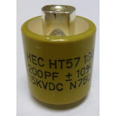 570200-15 Doorknob Capacitor,200pf 15kv HT57Y201KA 10% High Energy