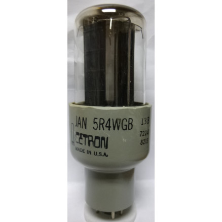 5R4WGB Tube, Full Wave High-Vacuum Rectifier, JAN/CETRON