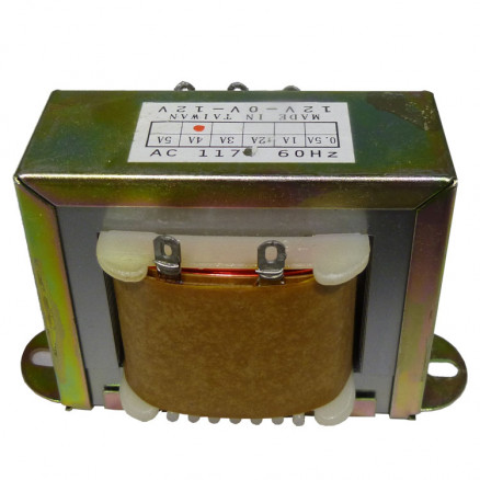 671244  Low voltage transformer, 117VAC/60cps 24vct, 2 amp, (67-1244) CES