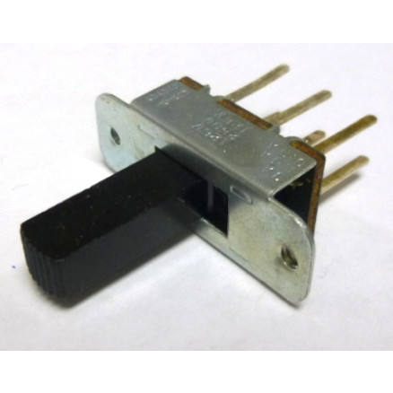 7C017 - 2 Position, DPDT,  Slide Switch with long shaft