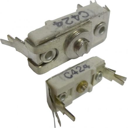 C424 Trimmer, Compression Mica, 25-150 pF