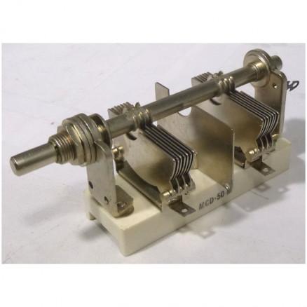 MCD50M Variable Capacitor, Panel Mount, 5.5- 50 pf, Hammarlund