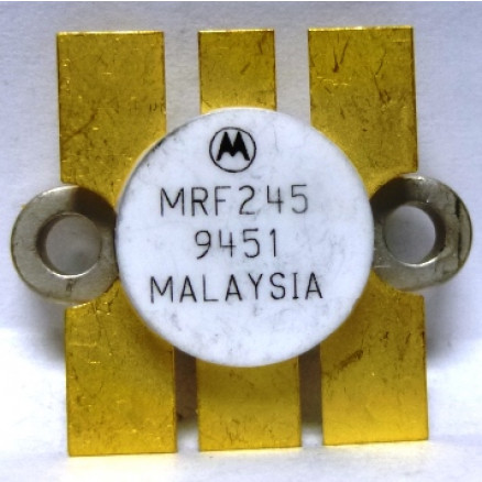 MRF245MP Transistor, Matched Pair, NPN silicon RF Power Transistor, 80 Watt, 12 volt, 175 MHz,  Motorola