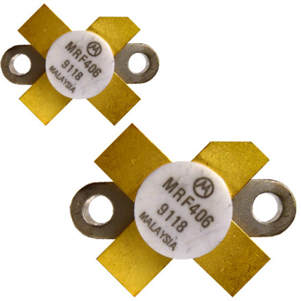 MRF406MP NPN Silicon RF Power Transistor, Matched Pair, 20 W (PEP), 30 MHz, 12.5 V, Motorola