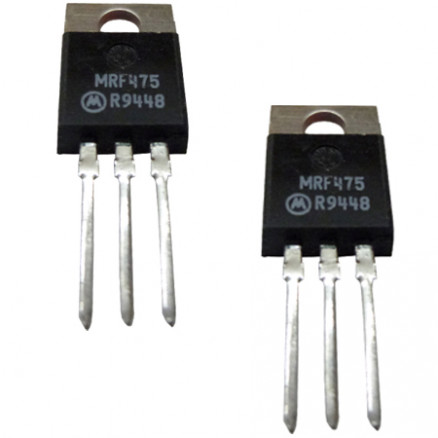 MRF475MP NPN Silicon Power Transistor, Matched Pair, 12 W, 30 MHz, 13.6 V, Motorola