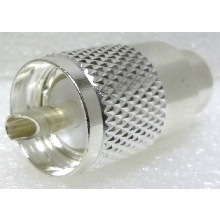 1-PL259A UHF Male Solder Type Connector, Silver/PTFE LMR400/9913