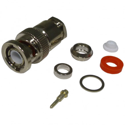 0-RFB1101-1P  BNC Male Clamp Connector, Cable Group P, RFI