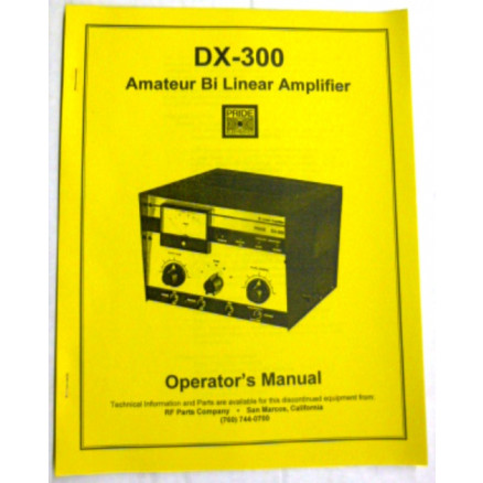SMDX300  Operating Manual, Pride DX300