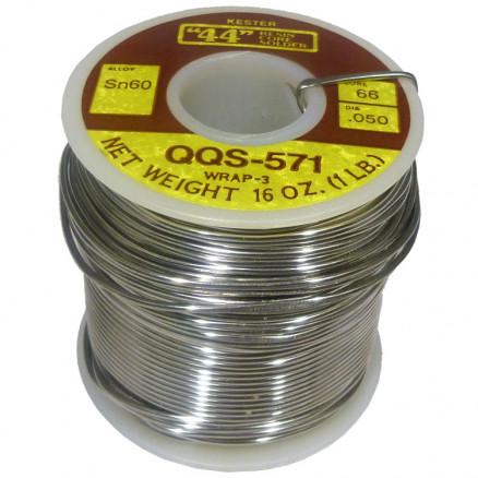 "SOLDER60-050 Solder, kester ""44"", 050 dia . sn60 alloy 66/44, QQ-S-571 wrap3 1 lb"