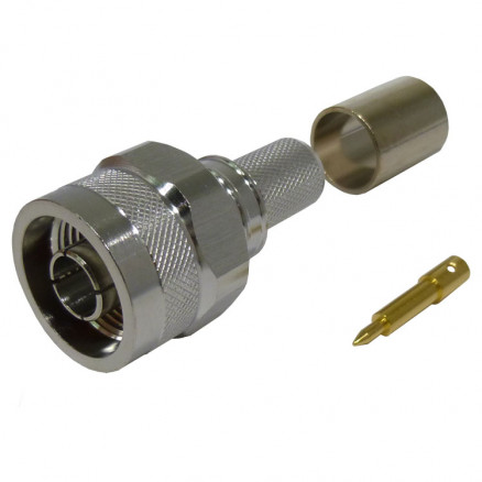 TC400NMH-X Type-N Male Crimp Connector, Cable Group I, Times (Good to 10 GHz)