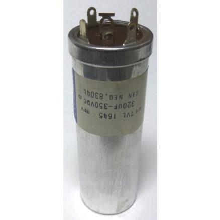 TVL1645 Capacitor 320 uf 350v twist lock metal can,  Sprague