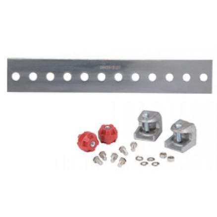 UGBKIT-0212-T Tinned Copper Ground Buss Bar, 1/4 in x 2 in x 12 in (6.4 mm x 50.8 mm x 304.8 mm)
